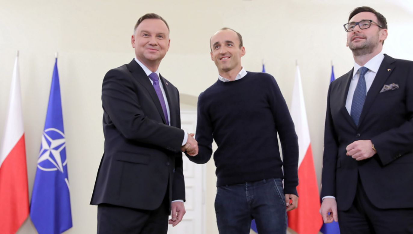 Prezydent spotkał się z Robertem Kubicą i Danielem Obajtkiem (fot. PAP/Leszek Szymański)