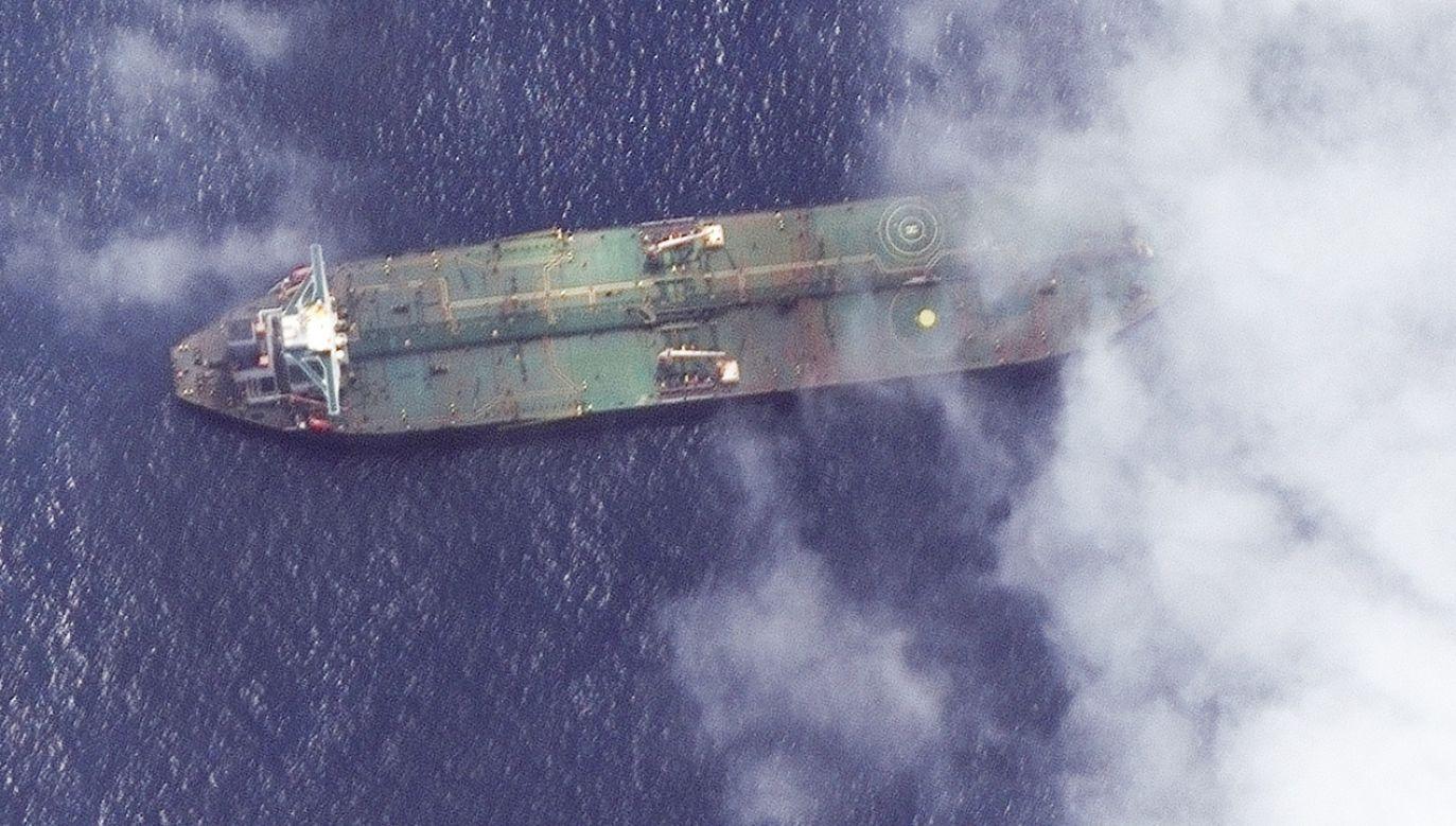 Do przejęcia statku doszło w okresie podwyższonych napięć w stosunkach między państwami bliskowschodnimi. Przed kilkoma dniami objęty sankcjami USA irański tankowiec Adrian Darya–1 dotarł w pobliże syryjskiego portu Tartus (fot. PAP/EPA/SATELLITE IMAGE ©2019 MAXAR TECHNOLOGIES / HANDOUT)