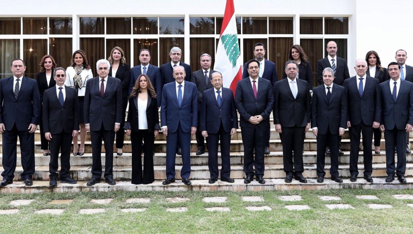 Premier Libanu Hassan Diab ogłosił dymisję całego rządu (fot. PAP/EPA/DALATI AND NOHRA HANDOUT)