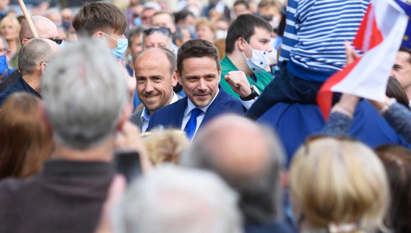 Rafał Trzaskowski walczy o prezydenturę (fot. PAP/Jakub Kaczmarczyk)