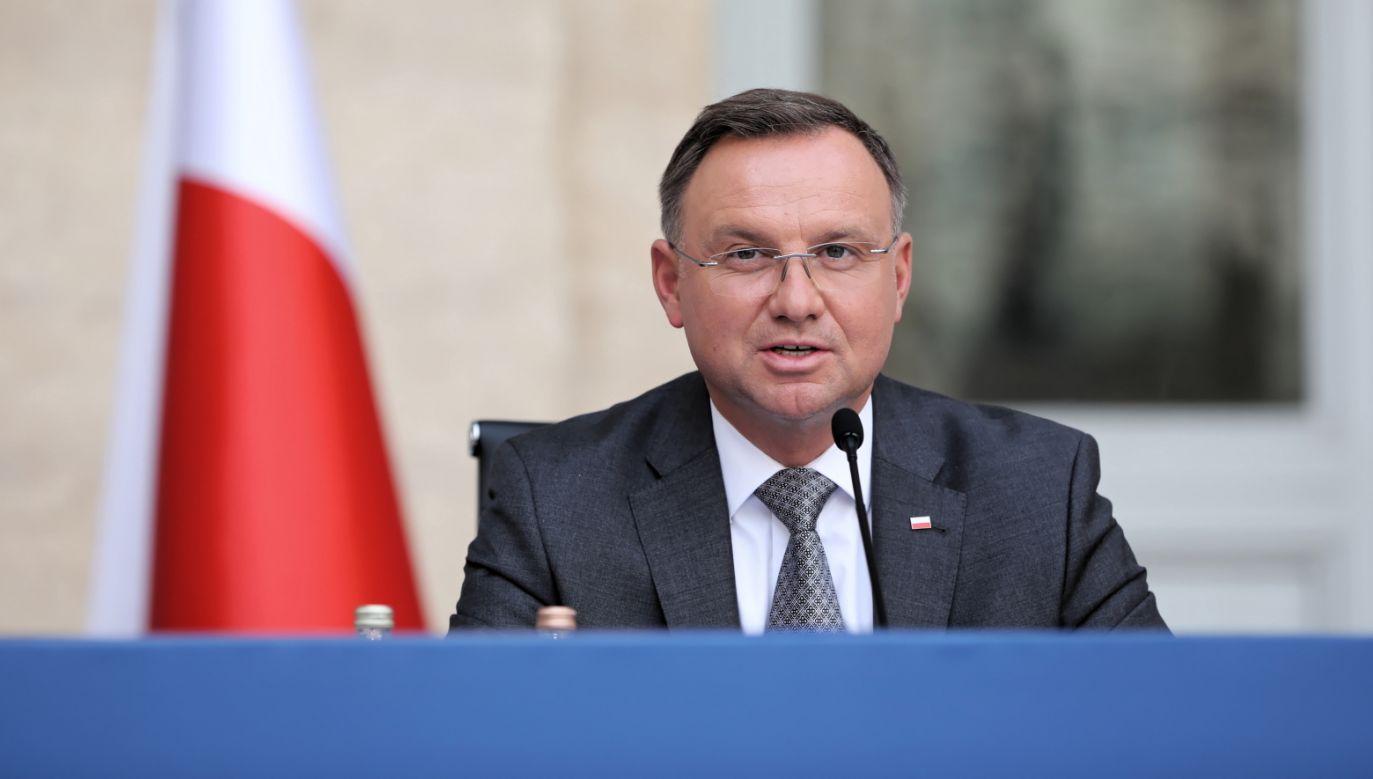 Prezydent RP Andrzej Duda (fot. PAP/Wojciech Olkuśnik)