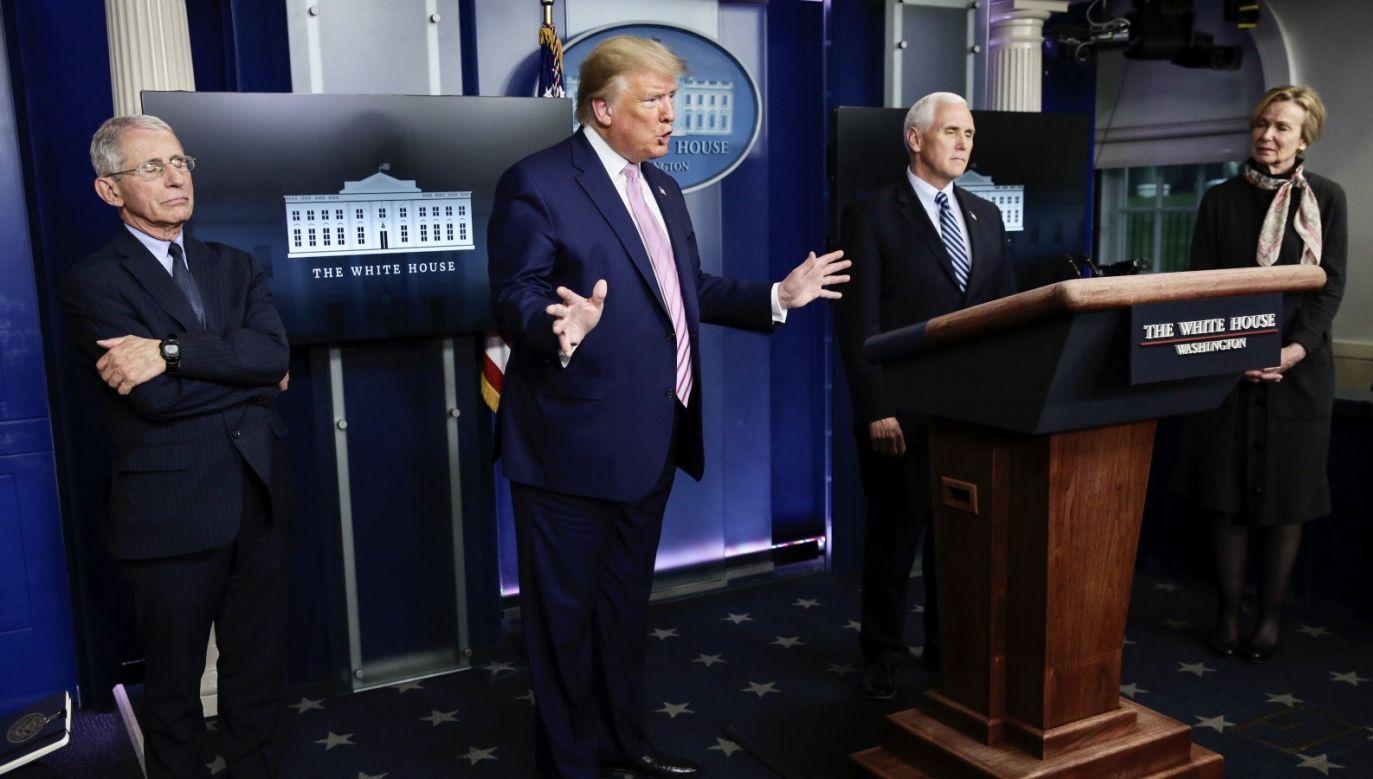 Prezydent Donald Trump (fot. PAP/EPA/Oliver Contreras)