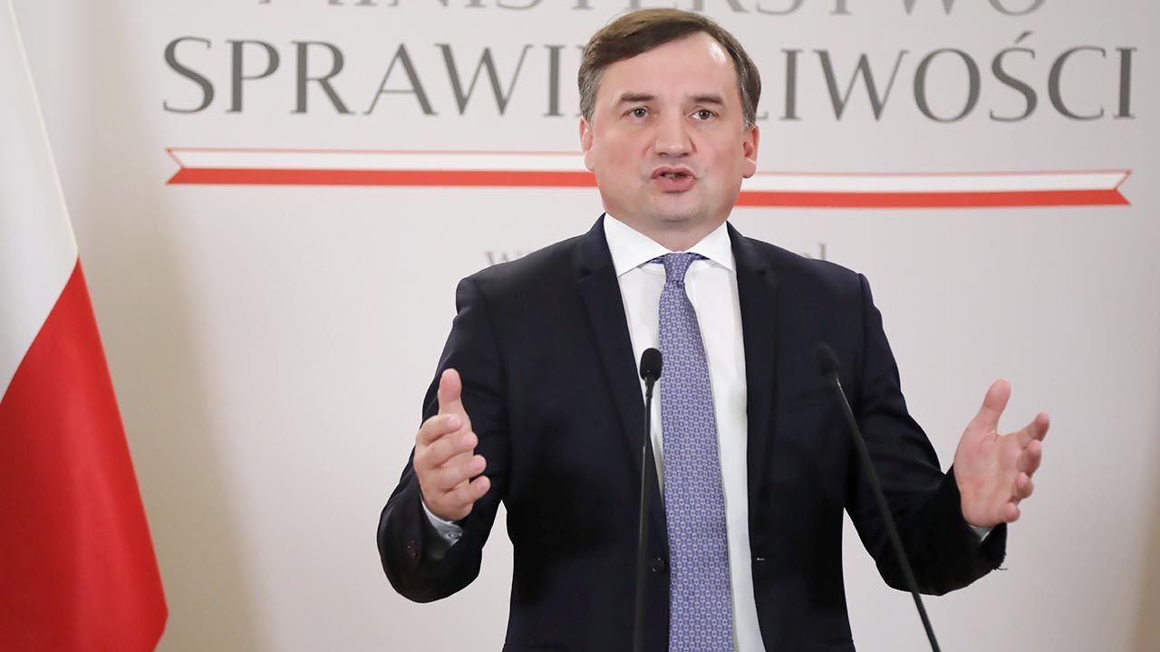 Minister sprawiedliwości Zbigniew Ziobro (fot. PAP/Wojciech Olkuśnik)