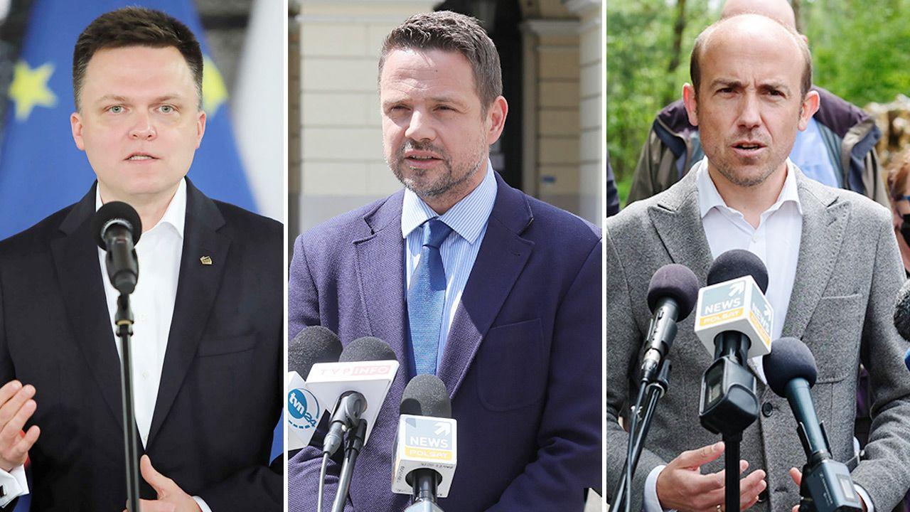 Kto jest liderem opozycji? (fot. PAP/Wojciech Olkuśnik; Andrzej Grygiel; Paweł Supernak)