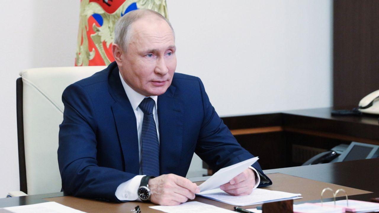 Nord Stream 2. Prezydent Rosji Władimir Putin (fot. EPA/SERGEI ILYIN / KREMLIN POOL/SPUTNIK / PAP/EPA)