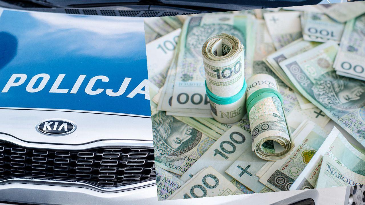Policja odzyskała większość ze skradzionych pieniędzy (fot. Shutterstock; zdjęcie ilustracyjne)