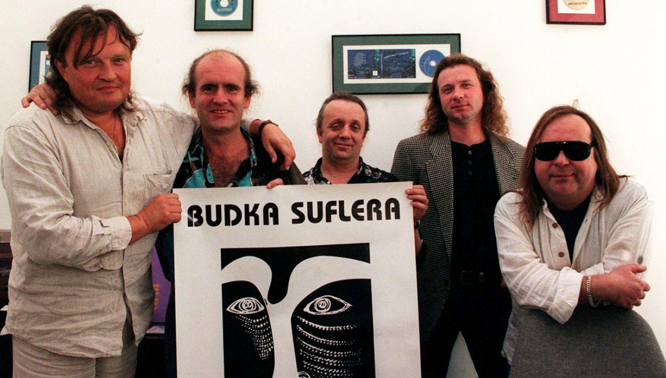 Budka Suflera (od lewej): Krzysztof Cugowski, Mieczysław Jurecki, Tomasz Zeliszewski, Marek Raduli, Romuald Lipko (fot. arch. PAP/Maciej Belina Brzozowski)