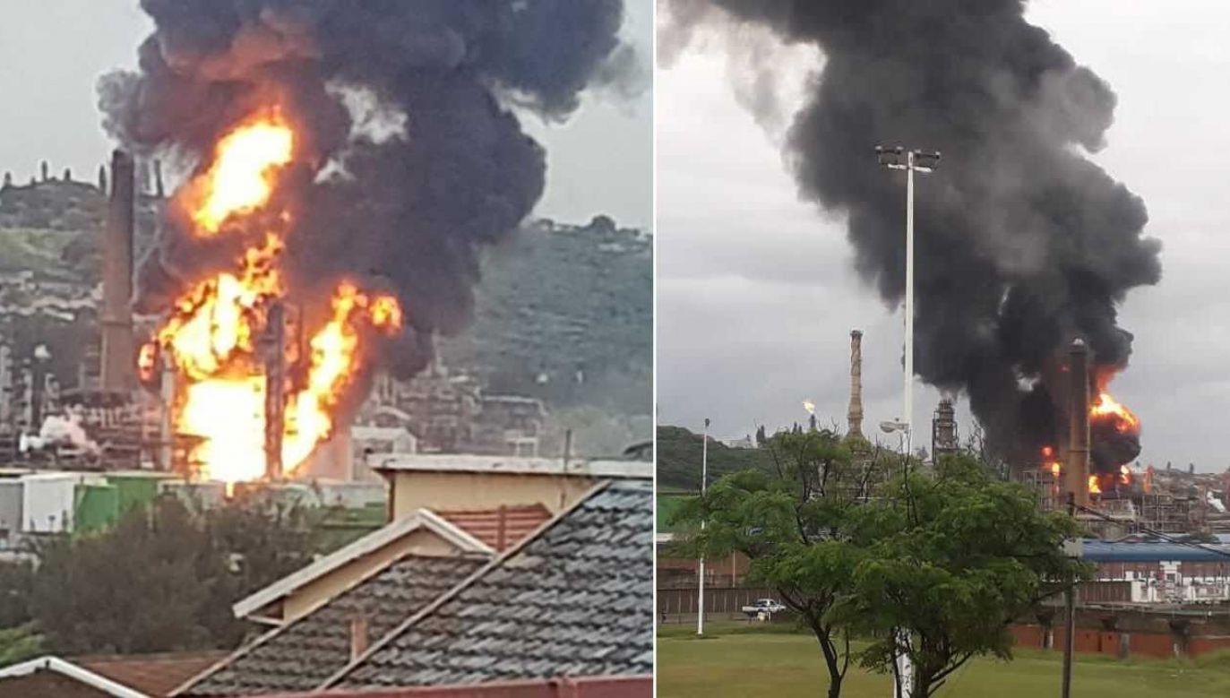 Nie wiadomo, jaka była przyczyna eksplozji (fot. TT/Jarryd Subroyen)