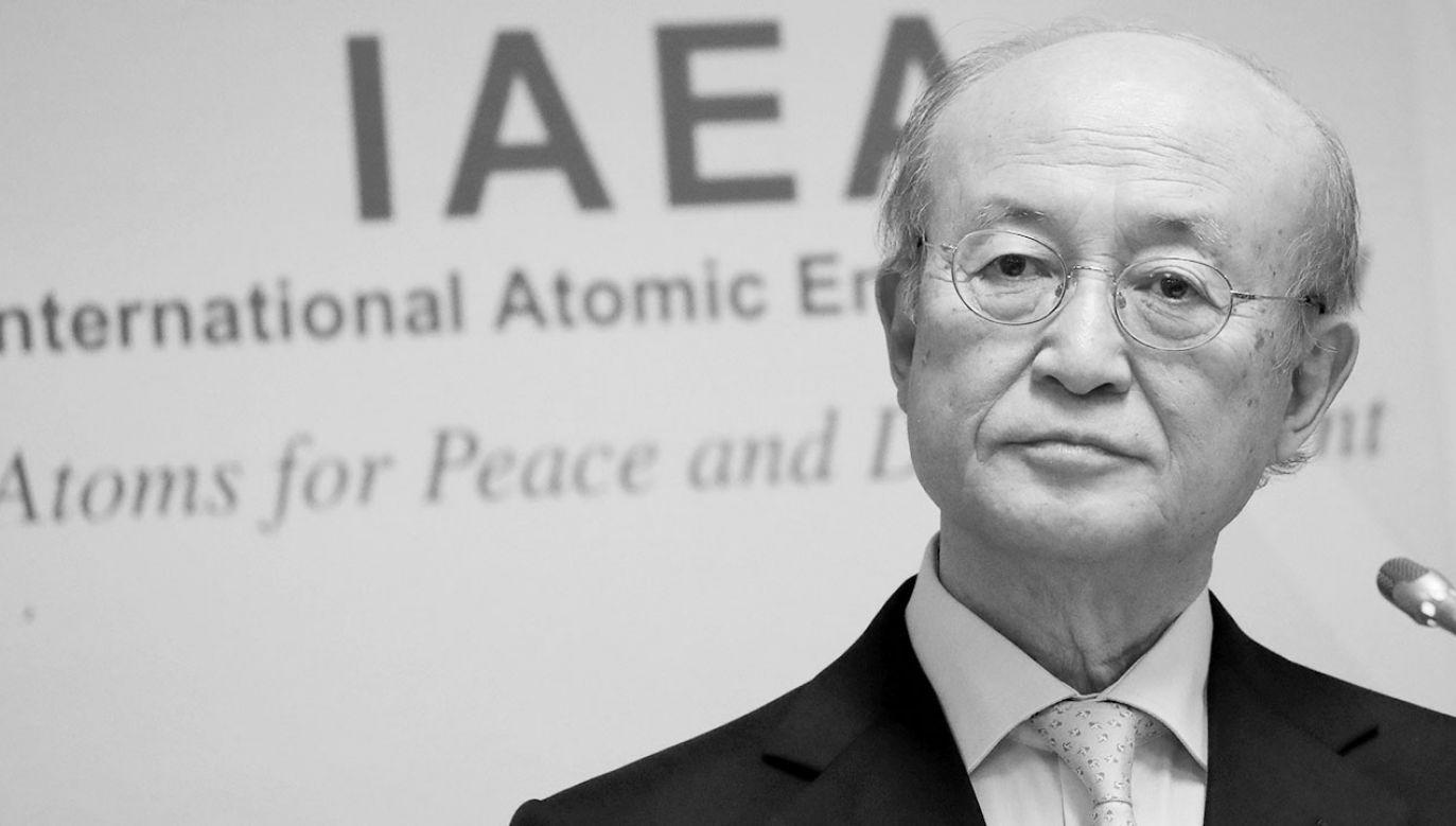 Dyrektor generalny Yukiya Amano (fot. REUTERS/Leonhard Foeger)