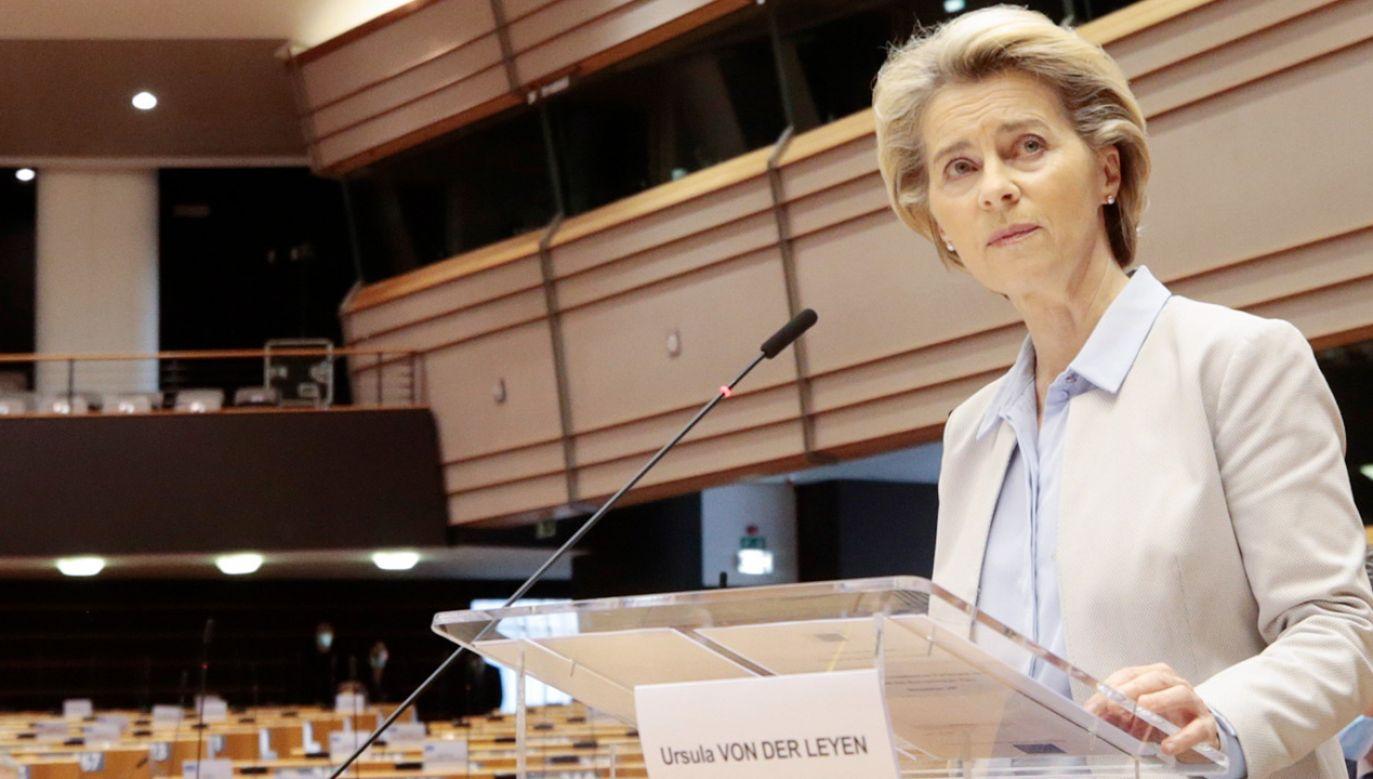 Przewodnicząca KE odpowiada na list premiera Morawieckiego (fot. PAP/EPA/OLIVIER HOSLET / POOL)
