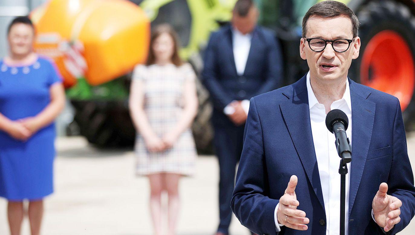 Premier przekazał, że w Polskim Ładzie przygotowano 20 ważnych programów (fot. PAP/Łukasz Gągulski)