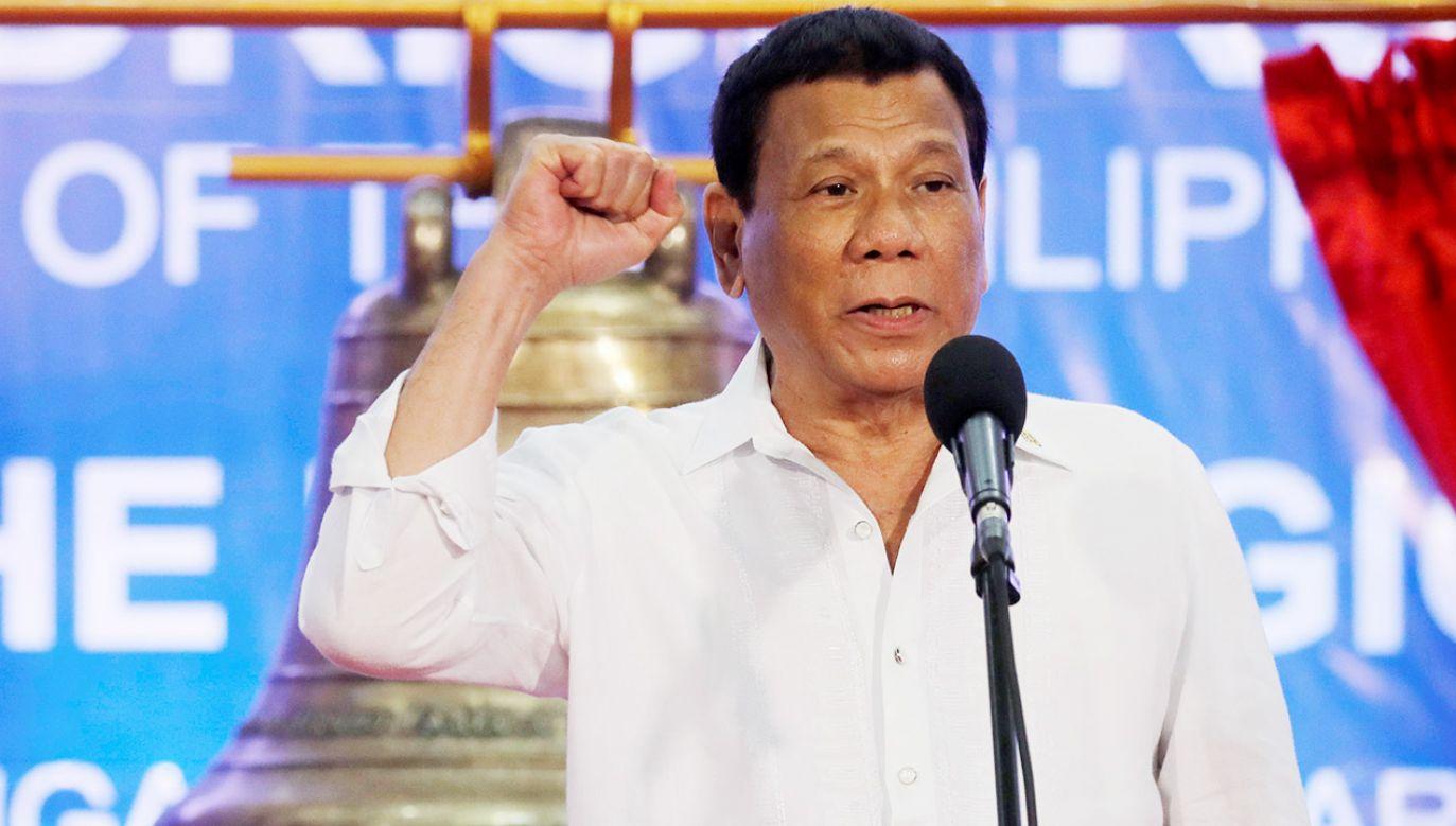 """Rodrigo Duterte nie chce świętować rocznicy """"podporządkowania kraju kolonizatorom hiszpańskim"""" (fot. REUTERS/Erik De Castro)"""