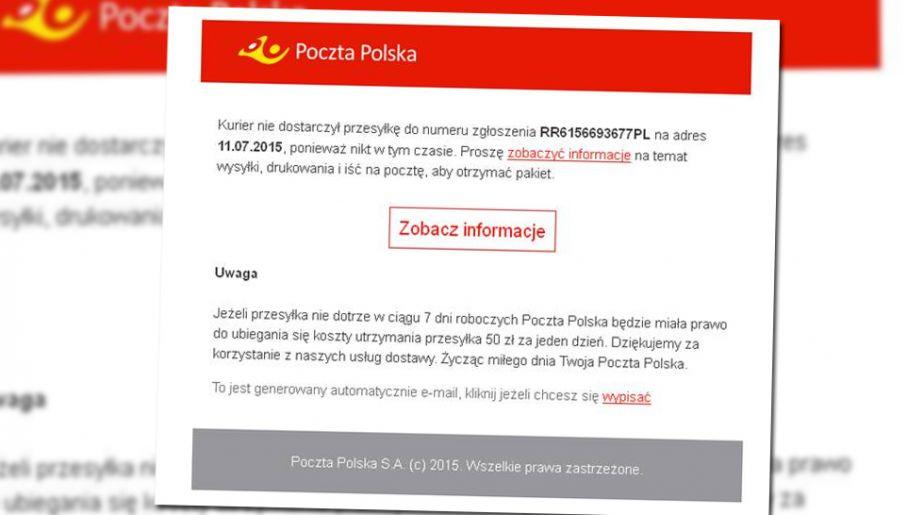 3d9b3743aeb54d Przykładowa wiadomość ze szkodliwym oprogramowaniem (fot. materiały własne)