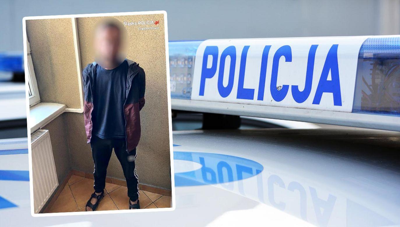 25-latek poszukiwany był za kradzież  (fot. Shutterstock/DarSzach; Policja)