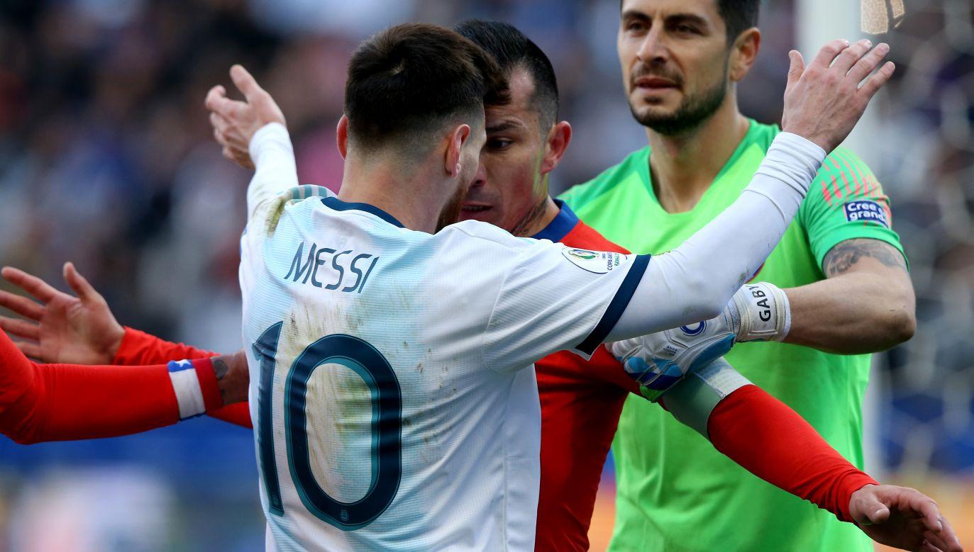 Messi po raz drugi w karierze reprezentacyjnej otrzymał czerwoną kartkę (fot. Alexandre Schneider/Getty Images)