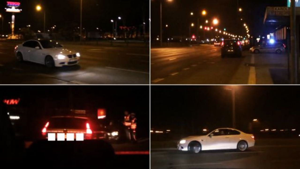 N. stał się znany rok temu, gdy w internecie zamieścił nagranie, na którym widać, jak kierowca białego bmw łamie przepisy (fot. YouTube/robnog007)