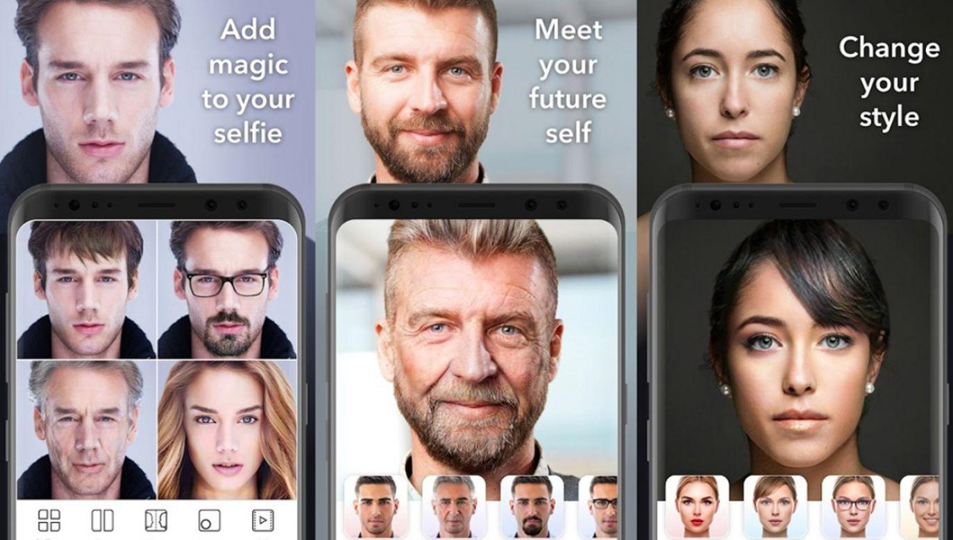 FaceApp jest liderem wśród aplikacji jeśli chodzi o liczbę pobrań (fot. FaceAPP)