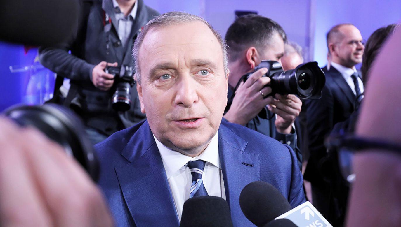 Grzegorz Schetyna zapowiada rozliczanie sędziów. (fot. PAP/Paweł Supernak)
