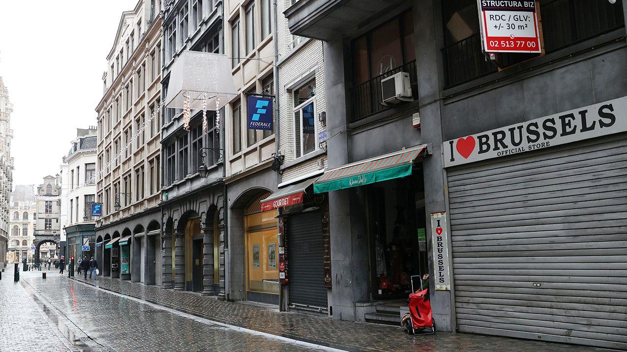 Większość obostrzeń w Belgii została przedłużona do 1 kwietnia (fot. Dursun Aydemir/Anadolu Agency via Getty Images)