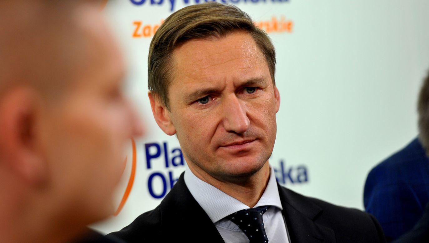 Geblewicz przekonywał, że pełnomocnicy są potrzebni (fot. PAP Marcin Bielecki)