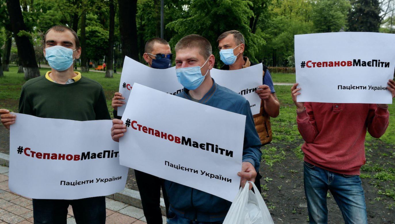 Maksym Stepanow został odwołany z funkcji ministra Ukrainy (fot. PAP/EPA/SERGEY DOLZHENKO)