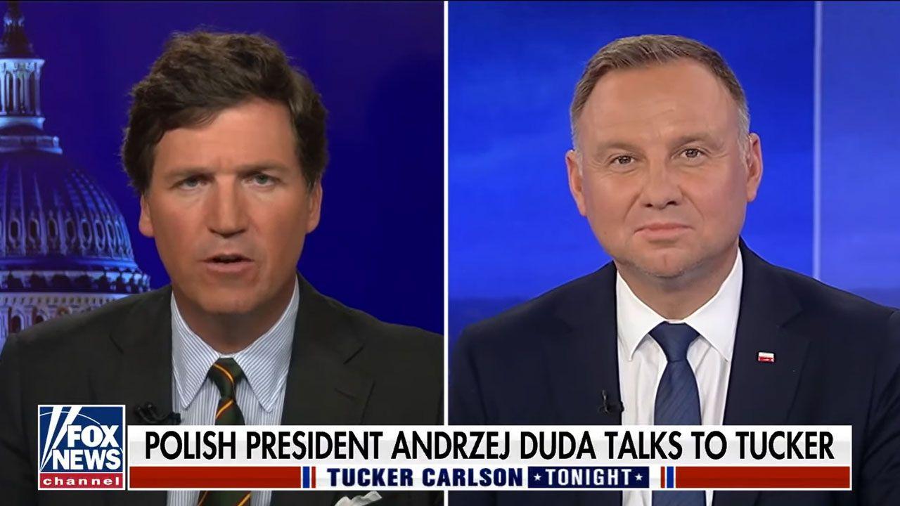 Prezydent Andrzej Duda udzielił wywiadu telewizji Fox News (fot. YT/ Fox News)