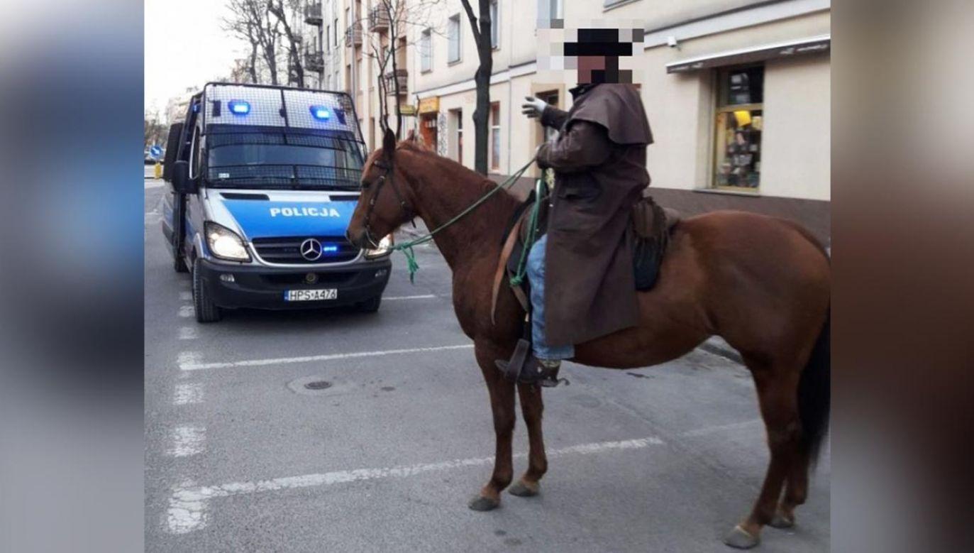 Mężczyzna został ukarany mandatem (fot. Policja)