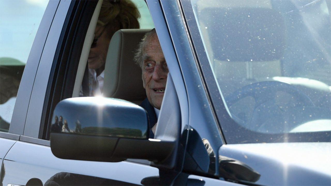 97-letni książę Filip spowodował w styczniu wypadek (fot. EPA/NEIL HALL)