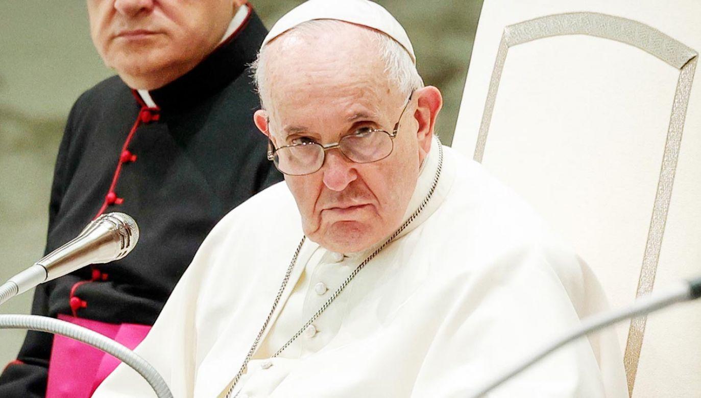 Papież Franciszek położył nacisk na znaczenie sprzeciwu sumienia (fot. PAP/EPA/GIUSEPPE LAMI)