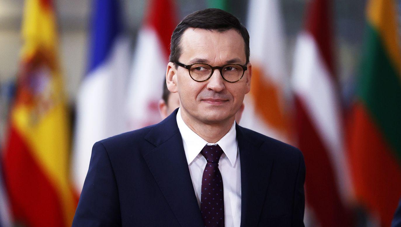 Premier Mateusz Morawiecki w Brukseli (fot. PAP/EPA/IAN LANGSDON)