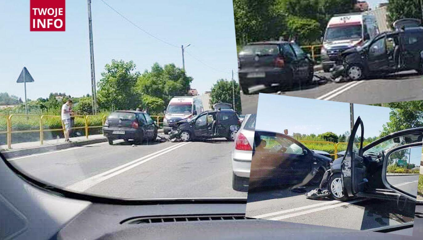 Wypadek w miejscowości Zabierzów (fot.Twoje Info)