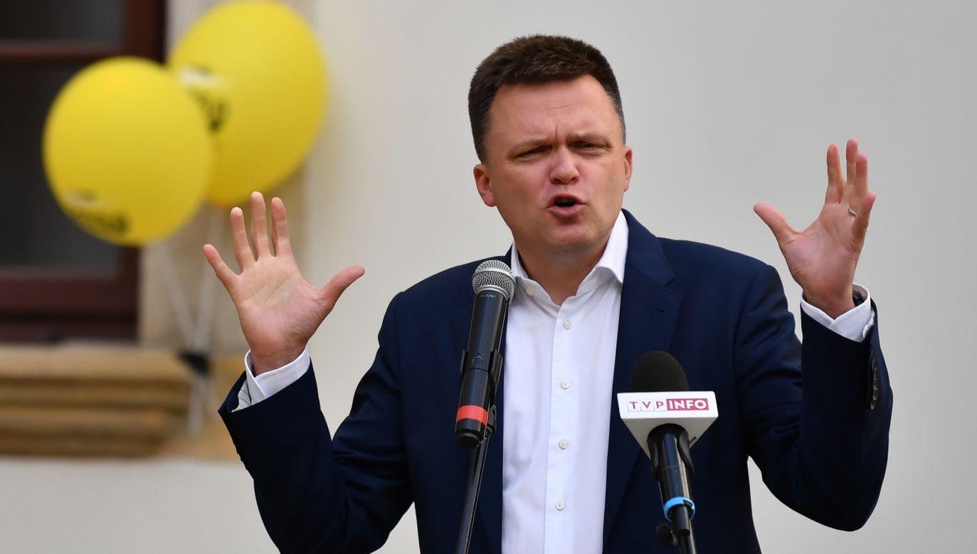 Lider Polski 2050 Szymon Hołownia (fot. PAP/Piotr Polak)