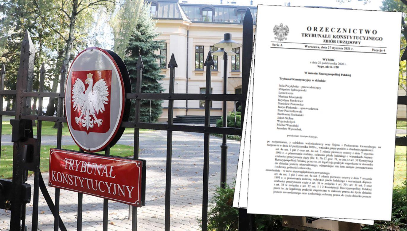 Jak wyrok ws. aborcji uzasadnili sędziowie TK? (fot. arch. PAP/Tomasz Gzell, mat. TK)