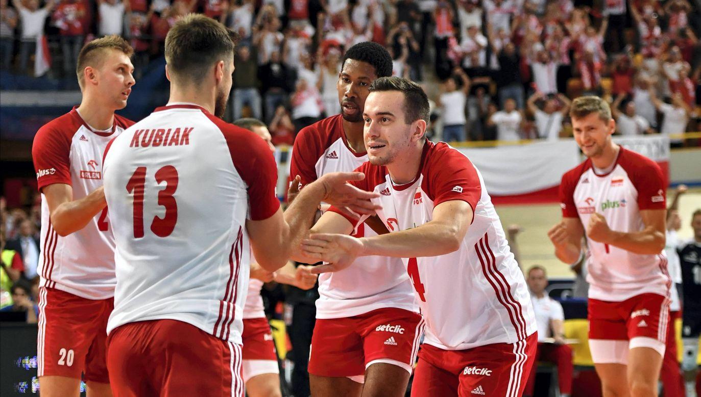 Polscy siatkarze podczas turnieju w Japonii (fot. PAP/Maciej Kulczyński)