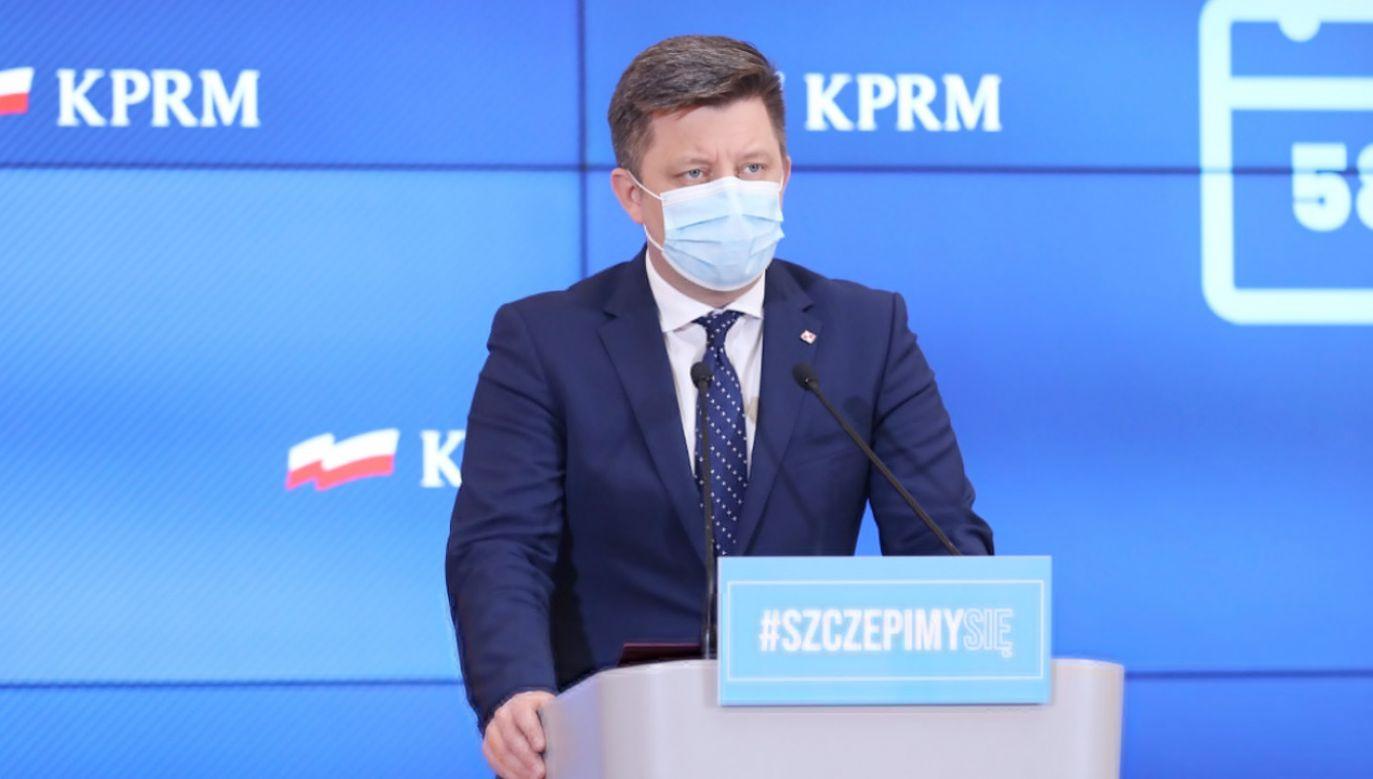 Pełnomocnik rządu ds. szczepień Michał Dworczyk (fot.TT/Kancelaria Premiera)