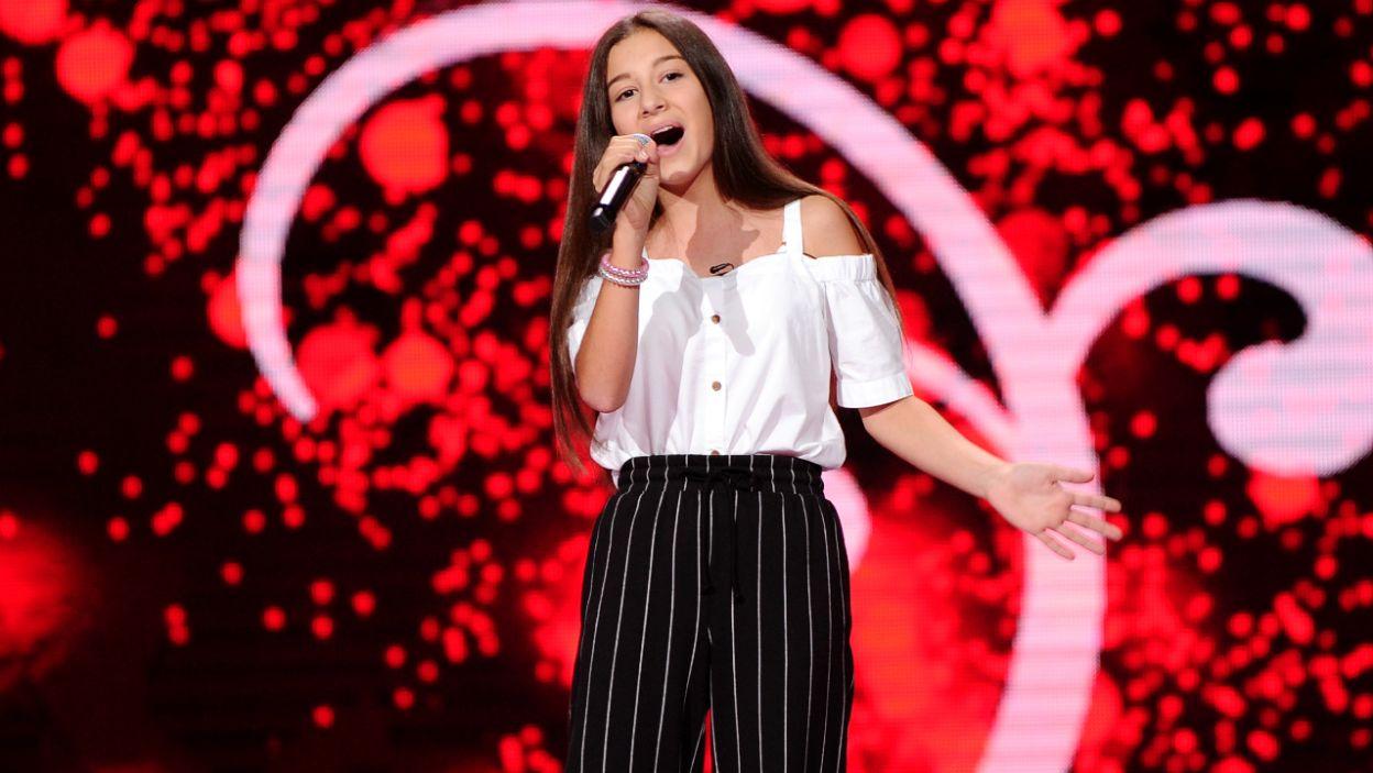 Cornelia Andrzejak zaśpiewała przebój Meghan Trainor. Widownia była zachwycona (fot. TVP)