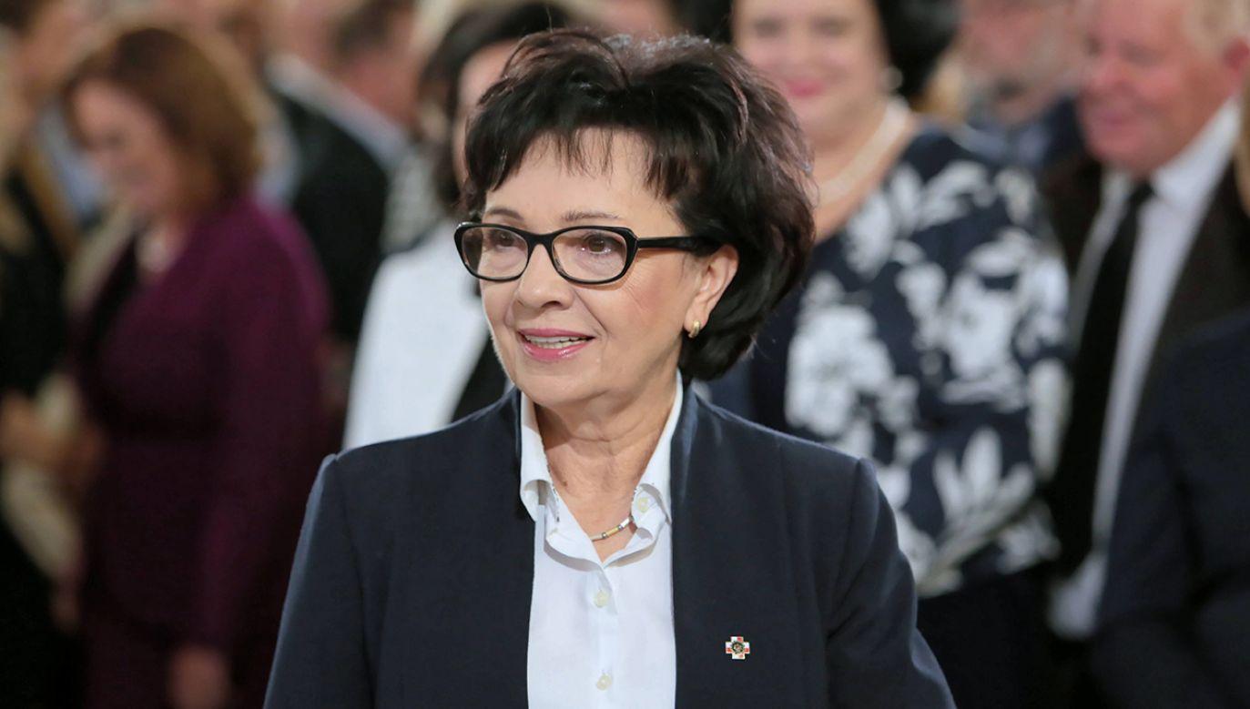– To pokazuje, że debata w polskim parlamencie może być konstruktywna – ocenił wybór Elżbiety Witek Andrzej Duda (fot. arch.PAP/Leszek Szymański)