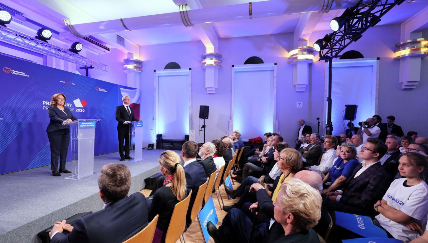 Debata prawyborcza kandydatów PO na prezydenta (fot. PAP/Paweł Supernak)