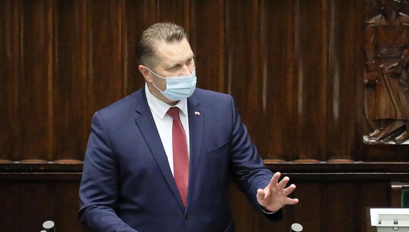 Minister edukacji i nauki Przemysław Czarnek (fot. PAP/Paweł Supernak)
