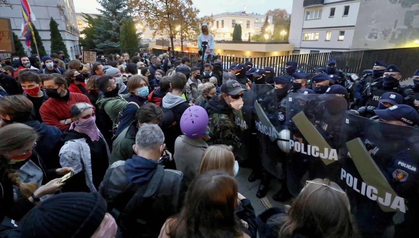Protesty wybuchły po orzeczeniu TK w sprawie aborcji (fot. PAP/Paweł Supernak)