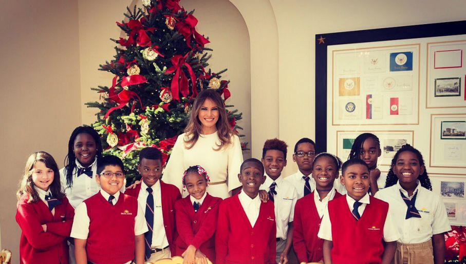 Boże Narodzenie W Białym Domu Melania Trump Pokazuje