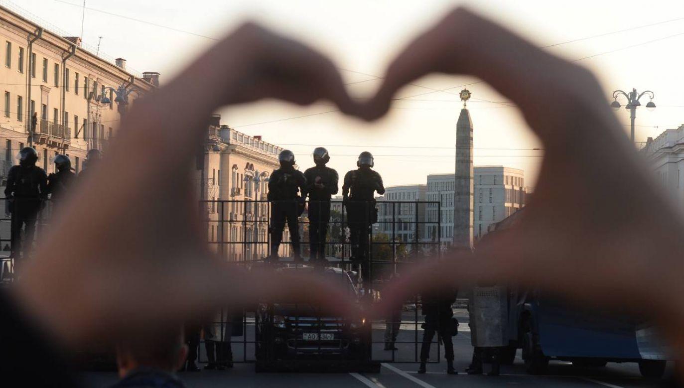 Brutalne tłumienie protestów trwa (fot.PAP/EPA/STR)