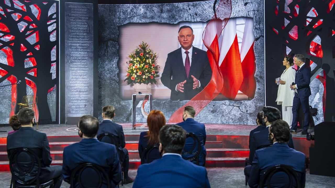 Prezydent Andrzej Duda mówił o znaczeniu Katynia (fot. TT/Sejm RP)