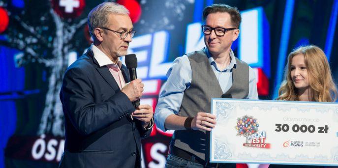 Maciej Jabłoński z córką wygrali Wielki Test ósmoklasisty