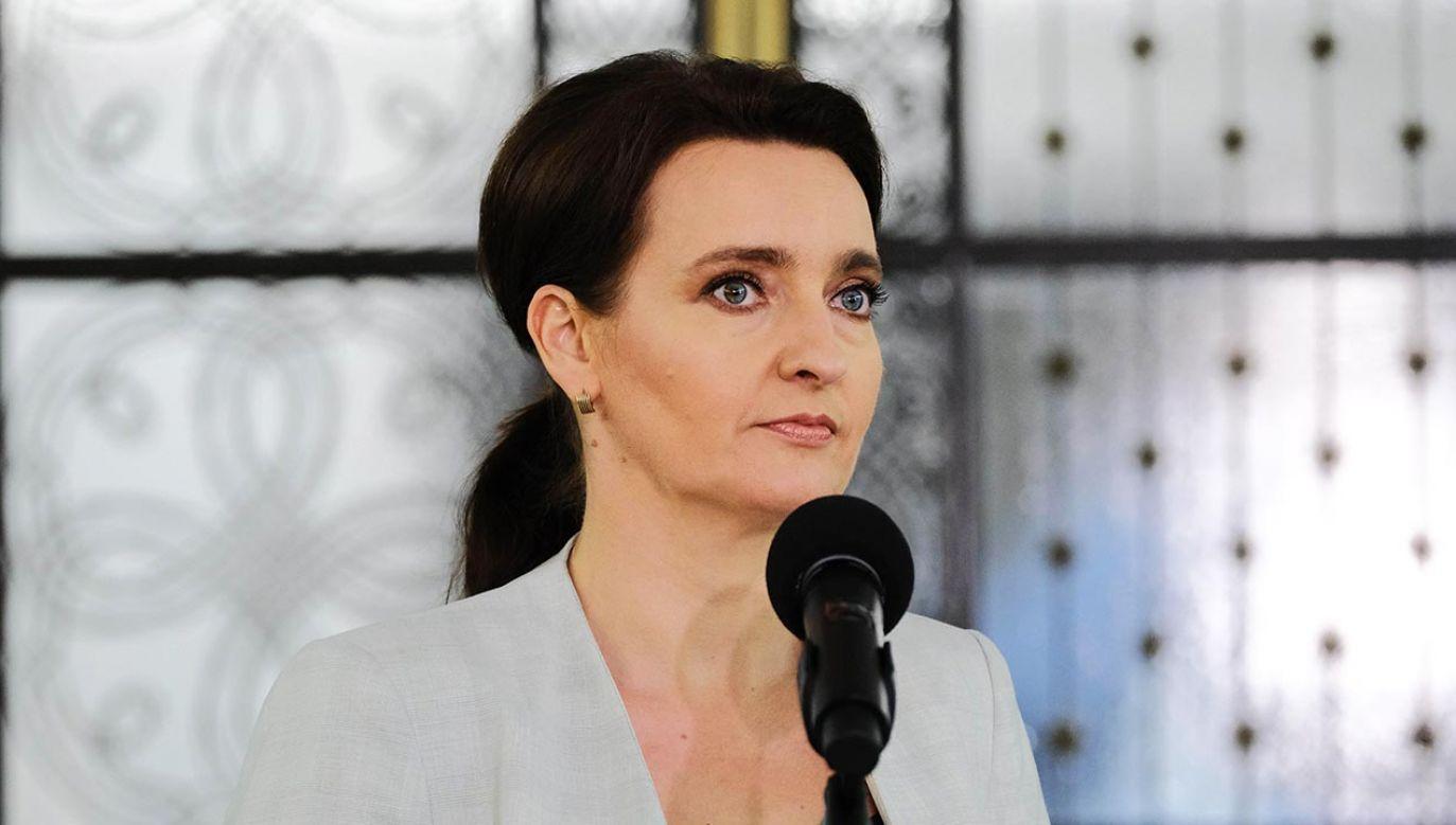 Marzena Okła-Drewnowicz deklaruje: Kiedy będziemy rządzić... (fot. PAP/Mateusz Marek)
