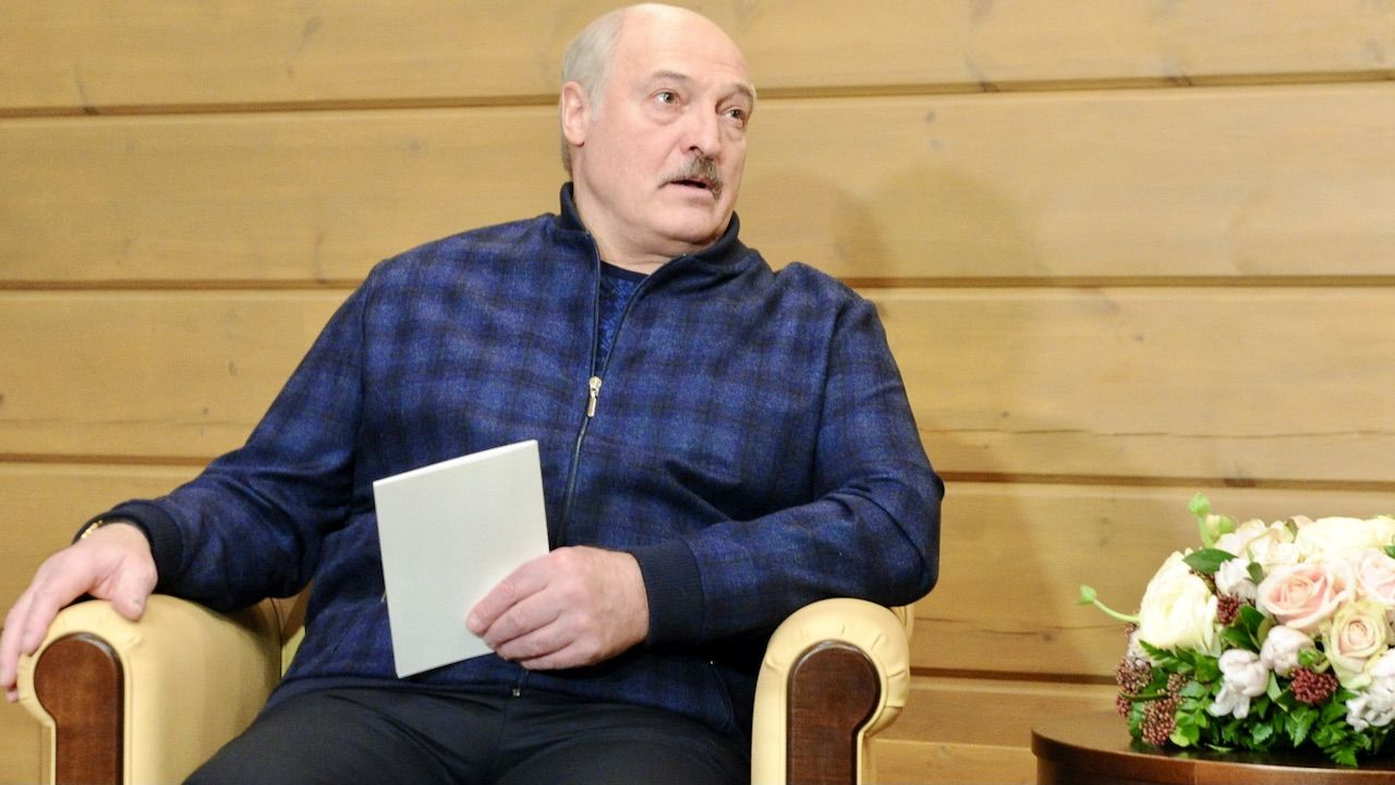 Prezydent Białorusi Alaksandr Łukaszenka (fot. PAP/EPA/A.DRUZHININ/SPUTNIK/KREMLIN)