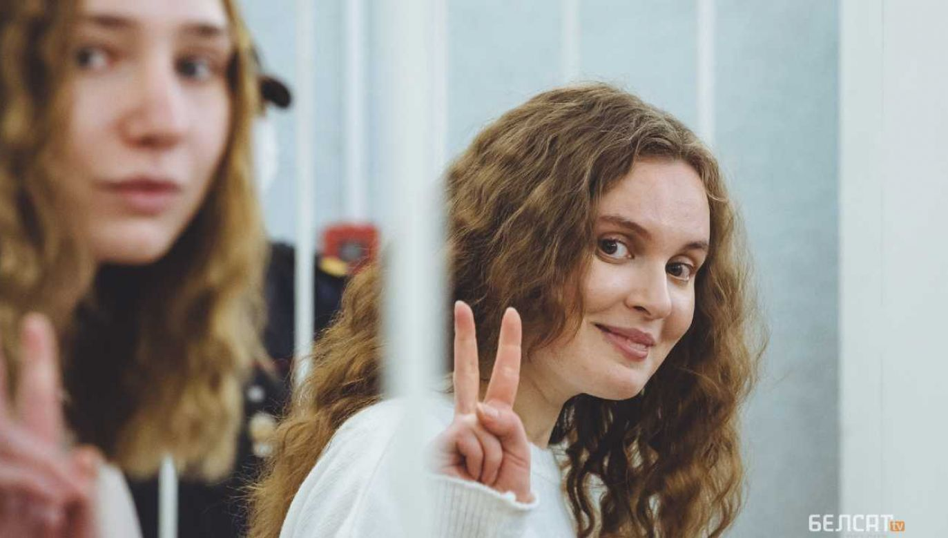 Daria Czulcowa i Kaciaryna Andrejewa skazane (fot. TV Biełsat)