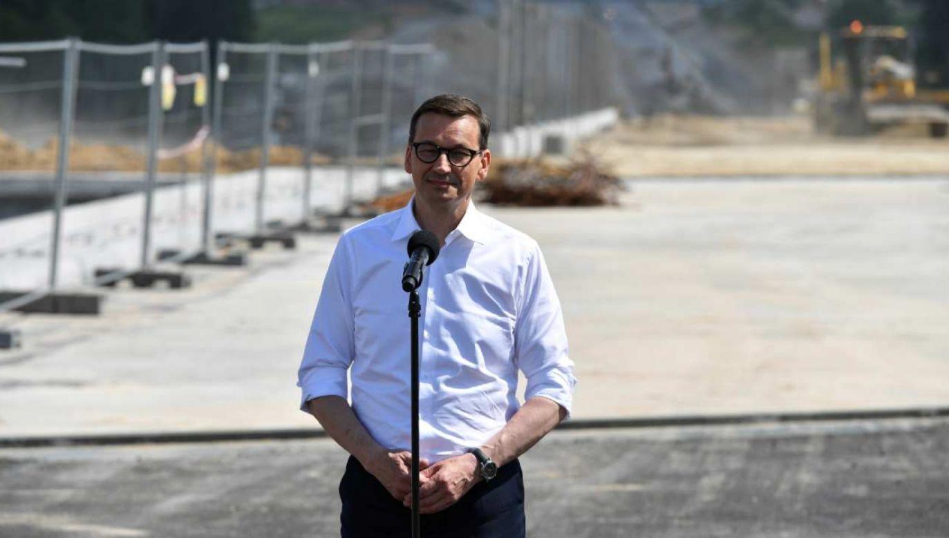 Premier: Via Carpatia jest po to, żeby tworzyć nowe miejsca pracy  (fot. PAP/Wojtek Jargiło)