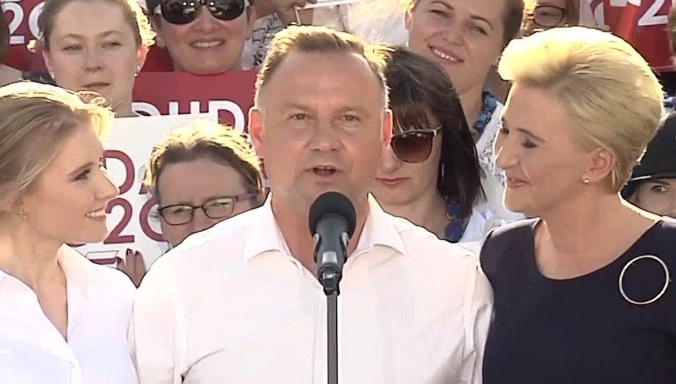 Andrzej Duda podziękował rodzinie za wsparcie (fot. TVP Info)