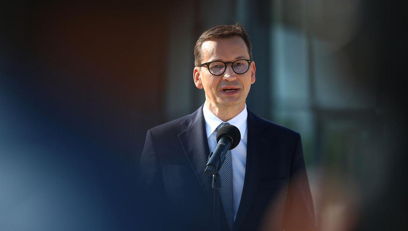 Mateusz Morawiecki zaprezentuje na czwartkowym szczycie Rady UE informacje dot. cyberataków (fot. PAP/Łukasz Gągulski)